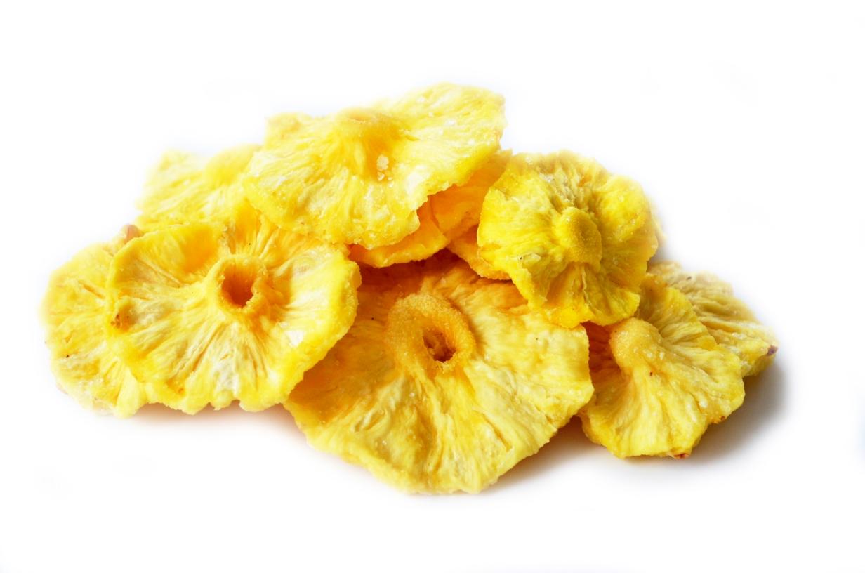 Сушеный ананас без сахара